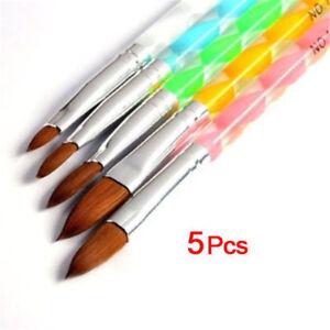 5PCS-Acrilico-Unas-Gel-UV-Polvo-Liquido-Cepillo-talla-pluma-No-4-6-8-10-12