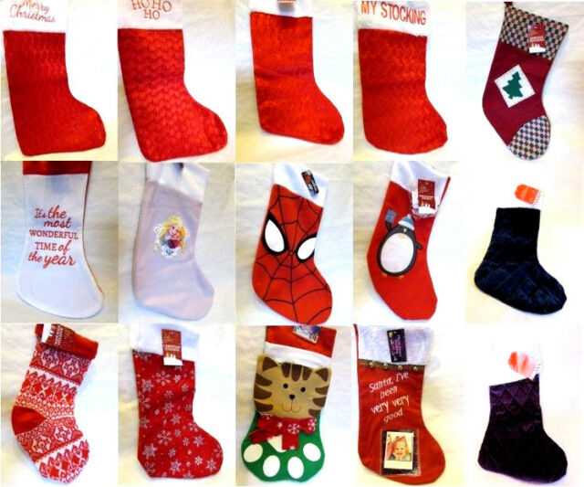 Christmas Gift Xmas Santa Stocking Socks 15Type Brand New Hanging Christmas Gift