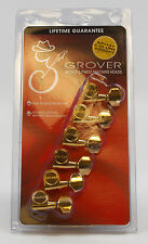 GROVER GUITAR MACHINE HEADS - TUNERS  - GOLD - 6 IN LINE