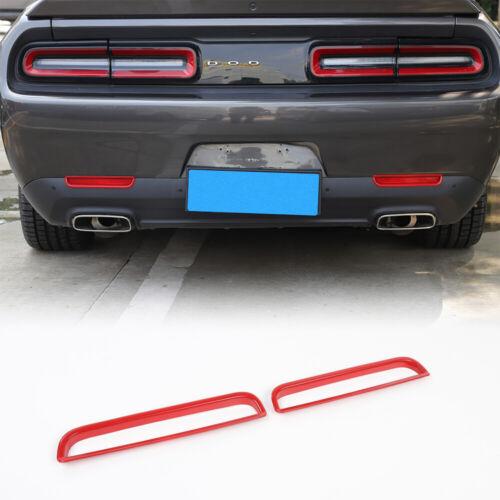 2PCS Rear Fog Light Frame Lamp Trim Accessories for Dodge Challenger 2015-2019
