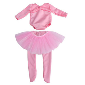 """Pink Doll Ballet Dress Skirt Pants Outfit Clothes Fit 18"""" American Girl Lovely"""