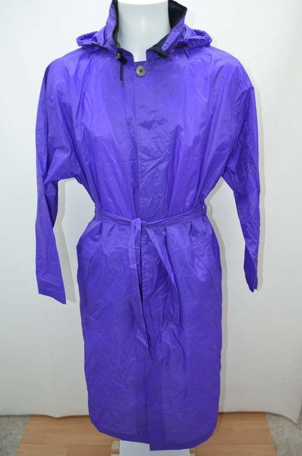 K-WAY KWAY IMPER purple  NYLON PLUIE PARKA size 38 T38 M