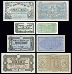 Banco Di Sicilia Copy Lot A (1868 - 1883) - Reproductions Vzasdlg2-07214328-291916247
