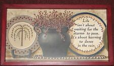 """Primitive Country Black Pottery Inspirational  9""""X 16"""" Wall Decor"""