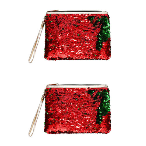 Fashion Women Sequin Shell Clutch Makeup Storage Pouch Mermaid Evening Bag Gift