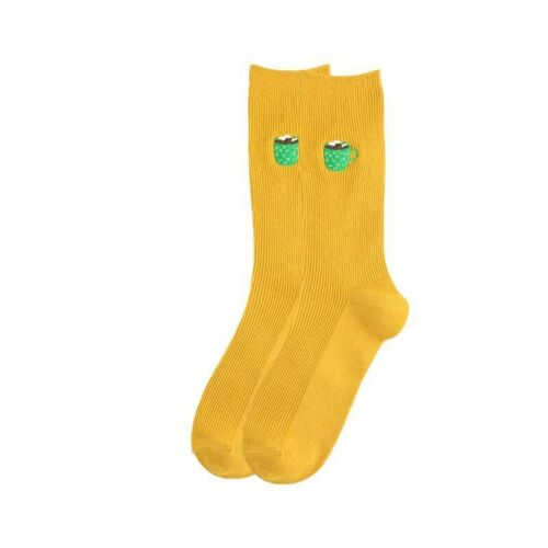 Women Girls Colorful Cartoon Long Socks Cute Fruits Novelty Mid Stockings