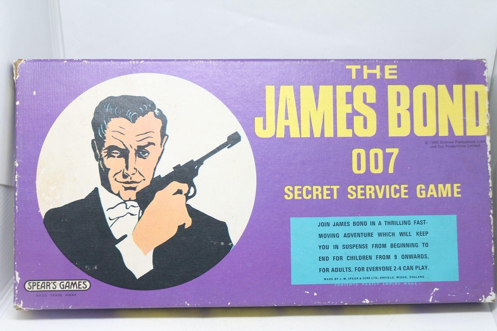 SPEARS GAMES  JAMES BOND SECRET SERVICE GAME  1966  OVP  RAR