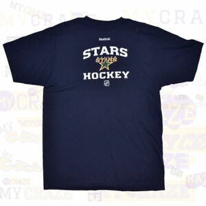 DALLAS-STARS-NHL-Reebok-Mens-Navy-T-Shirt