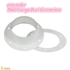 Image is loading 6-034-Inch-TWO-Flange-Duct-Connectors-Grow-  sc 1 st  eBay & 6