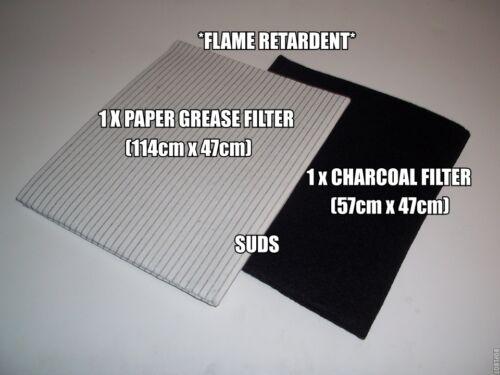 10 x PACK Cappa Universale ESTRATTORE 1 X Grasso Carta /& 1 X FILTRO di carbonio