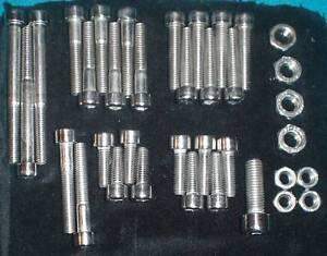 Honda-CR250-M-M1-ELSINORE-1973-1976-STAINLESS-steel-BOLT-SCREW-KIT-POLISHED