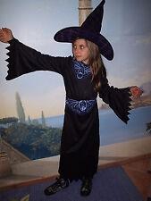 TRAJE DE LA BRUJA MAGA VAMPIRO~NIÑAS Disfraz de bruja Vestido negro 128-140 Rosa