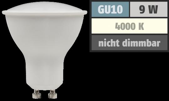 9Watt SMD LED Leuchtmittel 230Volt - 900Lumen - Neutralweiss 4000k - Gu10 Spots
