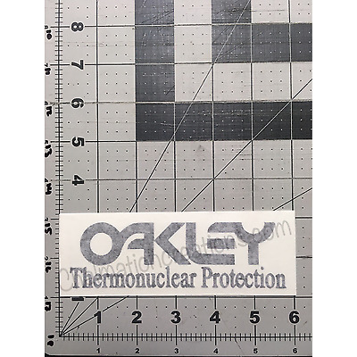 New Oakley Thermonuclear Protection Vinyl Decal Rub On Die Cut