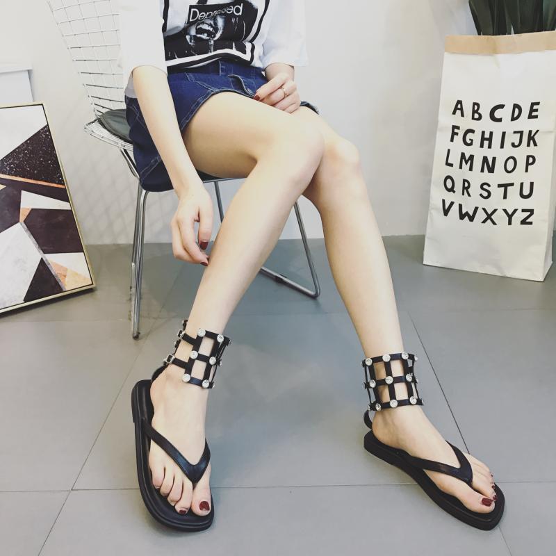 Sandali eleganti bassi  ciabatte simil colorati nero borchie comodi simil ciabatte pelle 1008 d38657