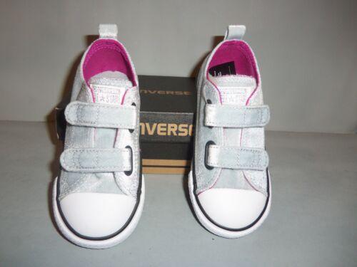 Toddler Converse Chuck Taylor All Star Ox 2V Sneakers Sizes NIB Hook//Loop