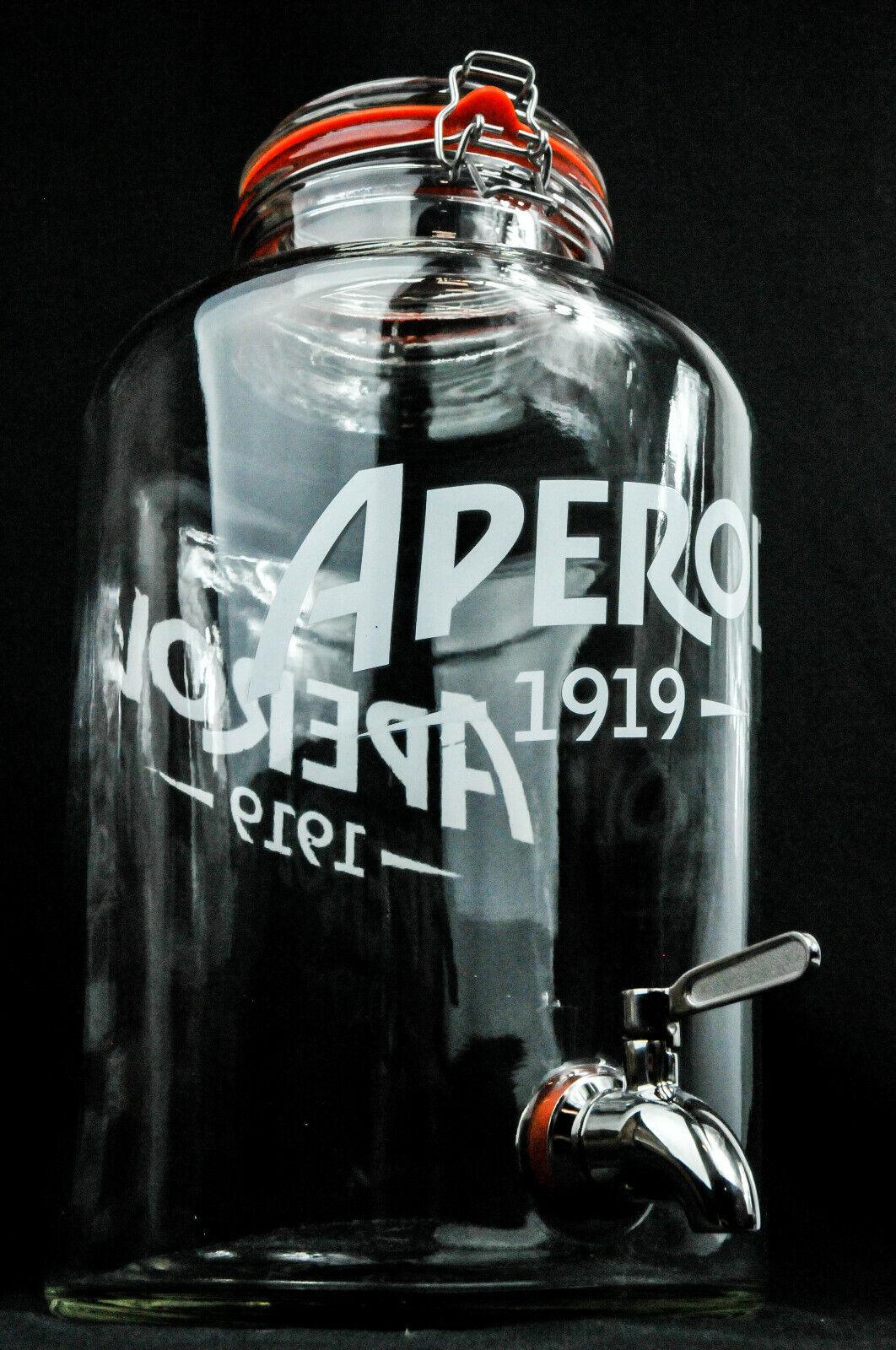 Aperol crie, 8,5 L Table-Zapfanlage, louche zapfglas, bec verseur  table Barrel