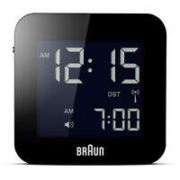Braun Men's Digital Square Alarm Clock Bnc008bk
