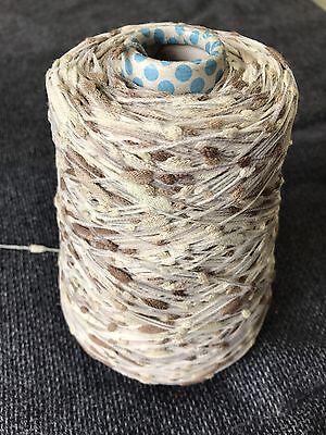 Made In Italy. 500 Gram Cone Fancy Bobble//slub Yarn In Cotton And Viscose
