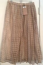 STUNNING New Tags No. 21 brand layered plaid skirt $995 Italy size 6 No 21
