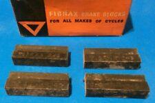 2 Pairs Fibrax Rod Brake Pads Blocks Vintage Roller Lever Raleigh Tourist etc