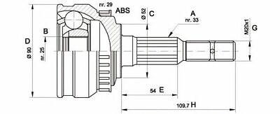 Open Parts CVJ5666.10 Kit Giunto Omocinetico
