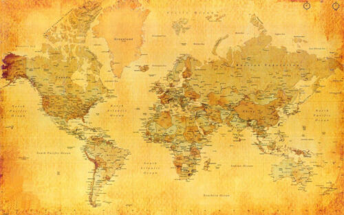 Large laminated world map poster wall chart political atlas 36 i ebay resntentobalflowflowcomponenttechnicalissues gumiabroncs Images