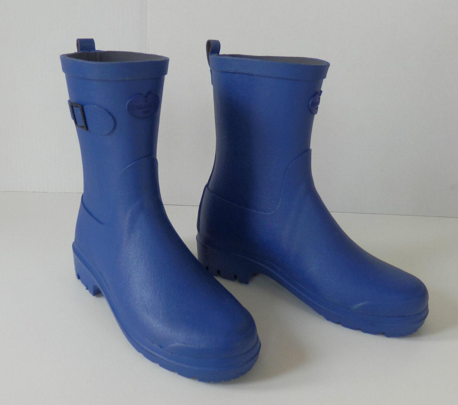 LE CHAMEAU LOW BOOT II Damen Gummistiefel Stiefelette blau 36, 38 neu