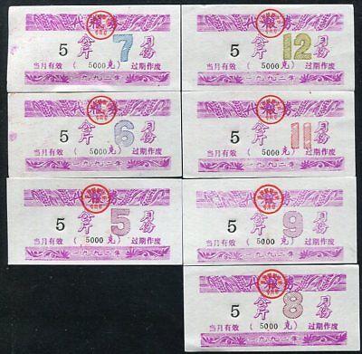 16 1978 UNC CHINA 5 UNITS FOOD COUPON NO