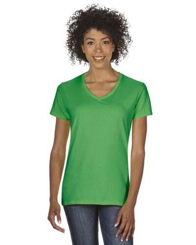 5V00L Gildan  Women/'s Heavy Cotton V-Neck T-Shirt S-3XL  G500VL