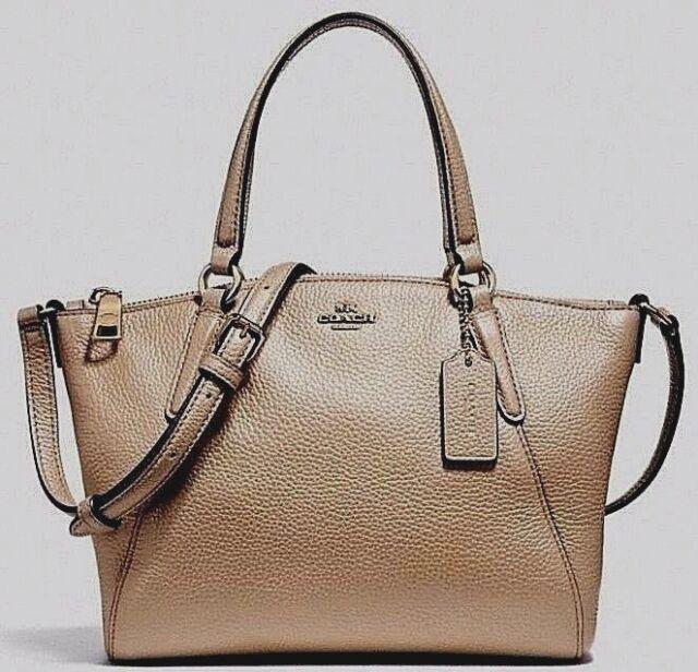 05841abdfbe0 ... netherlands new coach 29639 mini kelsey metallic pebble leather mini  satchel rose gold 82a07 75b11 ...