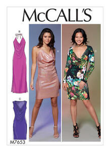 b4770bfff2426 Details about M7653 McCall's Sewing Pattern Misses' Special Occasion Draped Dresses  Gowns 4-20