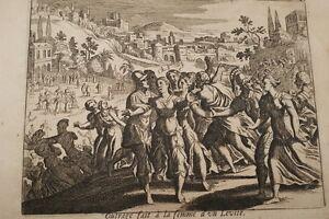 GRAVURE-SUR-CUIVRE-FEMME-LEVITE-OUTRAGEE-BIBLE-1670-LEMAISTRE-DE-SACY-B71