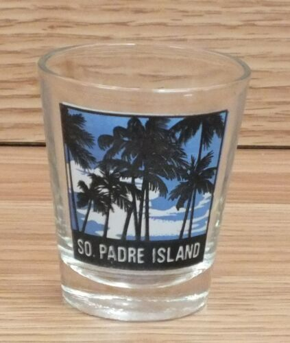 "Small 2 14"" inch South Padre Island Palm Trees Shot Glass Only READ"