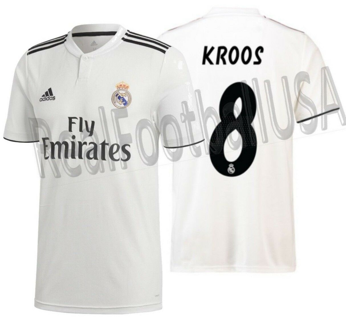 Adidas Tony Kroos Real Madrid Home Jersey 2018 19