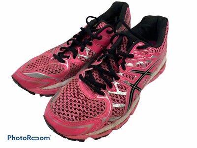 Asics Womens Gel Surveyor 2 Running Shoes Pink Black Low Top Lace Up T453N 7   eBay