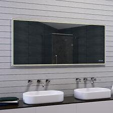 Alu LED Beleuchtung Badezimmerspiegel Wandspiegel Licht Bad Spiegel Dimmbar  160