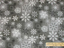 Holiday Magic Gray Snowflake Christmas Henry Glass Fabric  by the 1/2 Yard #9803