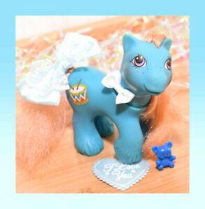 ❤️My Little Pony MLP G1 Vtg Playtime Baby Brother Boy Drummer Blue Drums 1988❤️