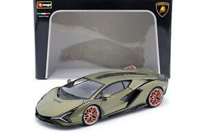 Lamborghini-Sian-FKP-37-Baujahr-2020-matt-olivgruen-1-18-Bburago