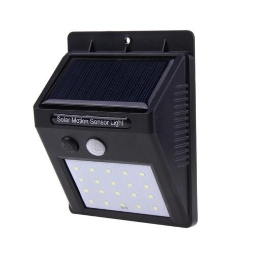 LED Solaire Applique Murale PIR Capteur De Mouvement Jardin Lumière Imperméable