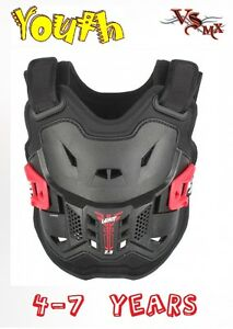 Leatt-2-5-Chest-Protector-Armour-MX-Motocross-RED-4-7-Years-Old-Kids-PeeWe