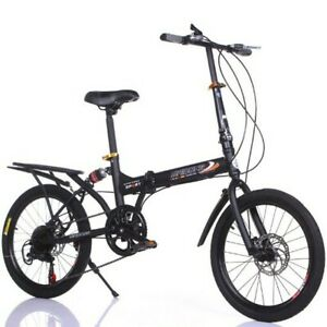 20in 7 Speed City Folding Compact Suspension Bike Bicycle Urban Commuters S