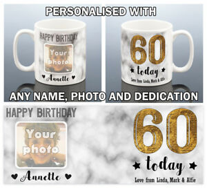 Image Is Loading 60th BIRTHDAY MUG For Her 1959 Personalised Photo