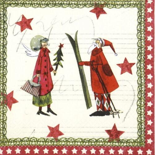Papel 4x Servilletas Para Decoupage Artesanales Y Fiesta-Silke Leffler Magia de la Navidad