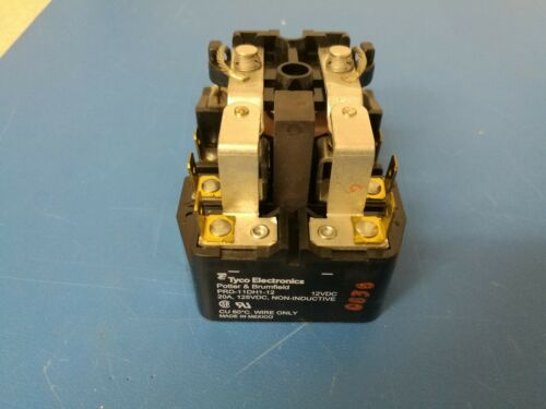 Tyco Potter /& Brumfield PRD-11DH1-12 Power Relay 12VDC 20A DPDT NEW