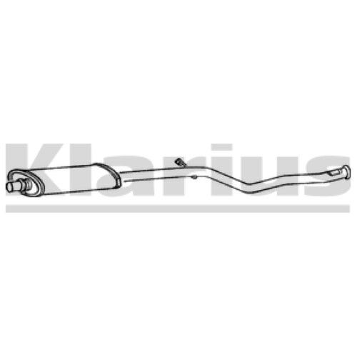 1x KLARIUS OE Quality Replacement Middle Silencer Exhaust For PEUGEOT CITROËN
