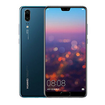 Huawei P20 EML-L29 Dual LTE 4GB RAM 128GB Blue Unlocked ship from EU garant