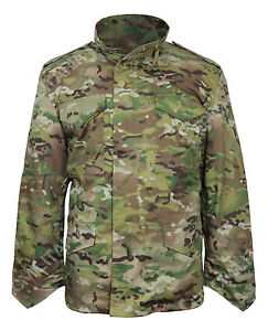 Flecktarn Camouflage M65 Field Jacket Winter Water Repellent Quilted Liner New