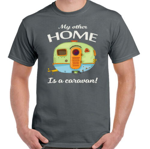 My Other Home Is A Caravan Mens Funny Caravanning T-Shirt Camping Awning Rally